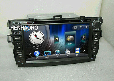 """8""""head unit car dvd player gps navigation for Toyota corolla stereo 2008 2009"""