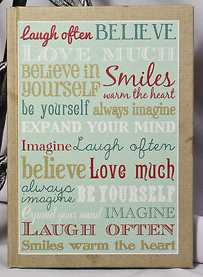 BLANK JOURNAL DIARY Inspirational LAUGH OFTEN Believe LOVE MUCH Smile