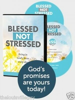 """Blessed Not Stressed"" - Joel Osteen - 2 CD/1 DVD  - This will change your life!"