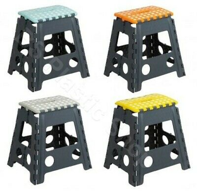 Folding Step Stool Strong Plastic Multi Purpose Large/Small Size Light Weight