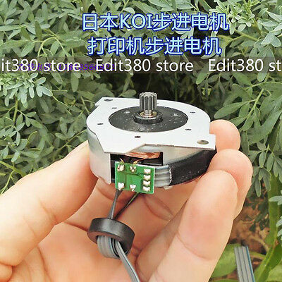 NEW DC 5V CNC 40mm Round Stepper Motor 0.5A  2-phase 4-wire 7.5 Degree