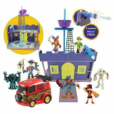 SCOOBY DOO Pirate Fort Playset With 7 Character Figures, Working Cannon & More!