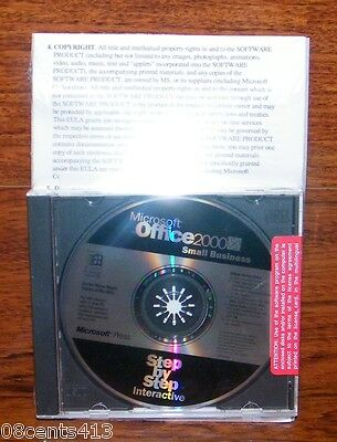 Discovering Microsoft Office 2000 Small Business (C04-00016) *NEW 2 Disc PC Set*