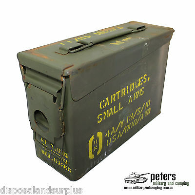 30 CAL Ammo Box Ex Army Steel Ammunition Box Fully Sealed Airtight