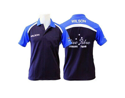 Team Live Fibre-Wilson Fishing Polo Shirt-Blue-Comfortable Quick Dry-With Collar