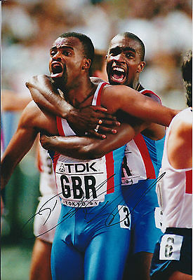 Derek REDMOND Autograph 12x8 Signed Photo AFTAL COA Athlete OLYMPIC Games