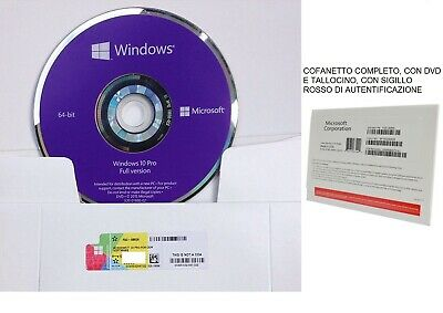 Licenza Windows 10 Pro Professional 32/64 Bit DVD Product Key Full completa