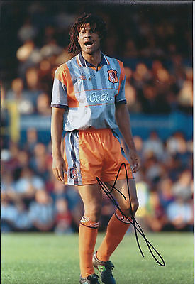 Ruud GULLIT Signed Autograph 12x8 Photo AFTAL COA CHELSEA In Person RARE