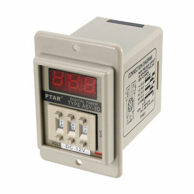 ASY-3D 8 Pin 0.1-99.9s Sec Power on Delay Time Relay Timer Black DC12V