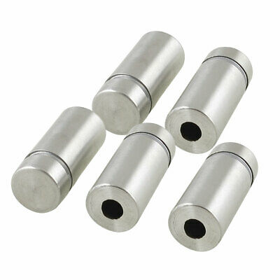 5 Pcs 12mm x 25mm Wall Mount Stainless Steel Standoff Nail Hardware for Glass