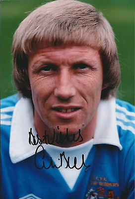 Colin BELL SIGNED 12x8 Photo AFTAL COA Autograph Manchester City Genuine RARE