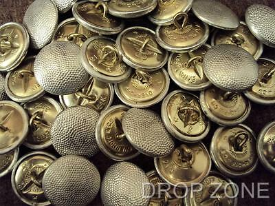 Post WWII German Military Bundeswehr Pebbled Uniform Buttons x12 21mm or 17mm