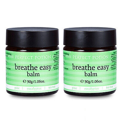 2 PCS Perfect Potion Breathe Easy Balm 30g x2= 60ml Body Massage Oil NEW #7891_2