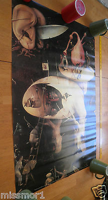 """Garden of Earthly Delights poster 24x35.5"""" Hieronymus Bosch Spain art library"""