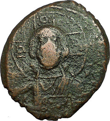 JESUS CHRIST Class A2 Anonymous Ancient 1028AD Byzantine Follis Coin  i34667