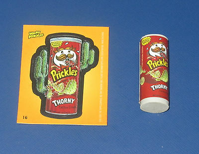 WACKY PACKAGES ERASER SERIES 1 PRICKLES #16 WITH MATCHING STICKER