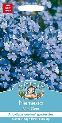 Mr Fothergills - Pictorial Packet - Flower - Nemesia Blue Gem - 500 Seeds