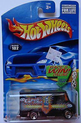 2002 Hot Wheels ~Grave Rave~ Grave Rave Wagon 4/4 (R & W Card)