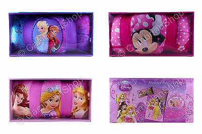 Disney Slumber Bed Sleeping Bag Pillow Princess Belle Frozen Minnie Storage Box