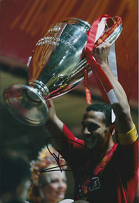 Rio FERDINAND Signed Autograph 12x8 Photo AFTAL COA Man Utd Genuine RARE