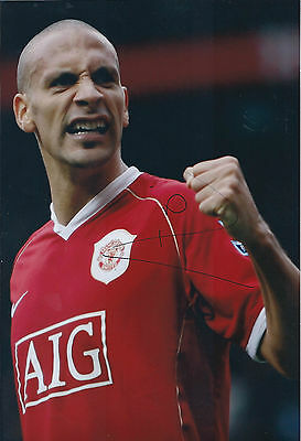 Rio FERDINAND Signed Autograph 12x8 Photo AFTAL COA Manchester United Authentic