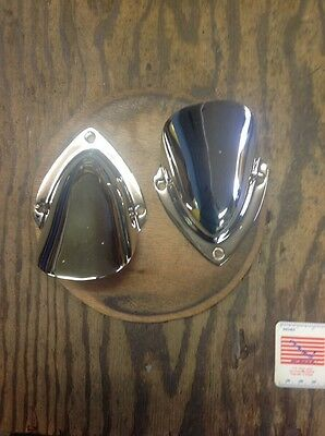 Pair Nickel plated Boat Vents vintage plated Nov 2013