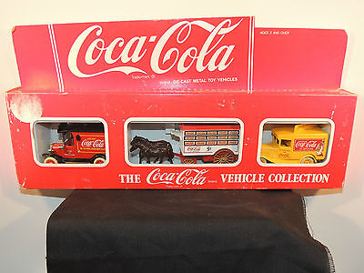 Coca-Cola 1967 Delivery Truck 3 Pack original package Made in England (5752)