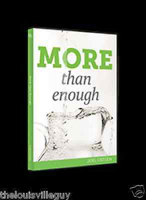 "Joel Osteen ""More Than Enough"" 2 CD's & 1 DVD - Incredible Series!"