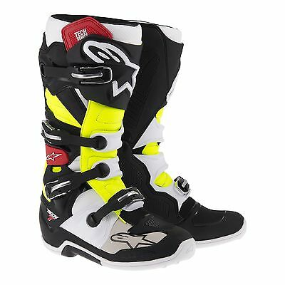 Botas Alpinestars Tech 7 Boot Motocross / Offroad Black /red/yellow