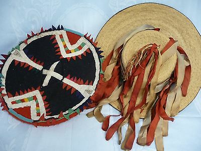 Two Vintage/antique Hand Made Mexican Costume Hats