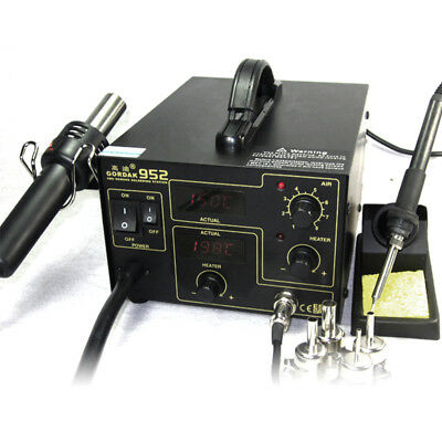 Gordak 952 SMD 2in1 Hot Air Rework Station Soldering Iron, Solder Rework Station