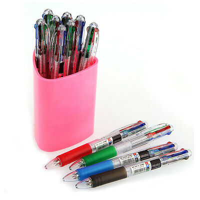 Lot de 12 Stylo Bille Ball Pen Encre Ink Mine 4 Couleurs 0.7mm Office