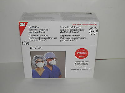 3M 1870 Health Care Particulate Respirator and Surgical Mask box of 20