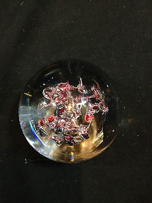 VINTAGE ART GLASS ABSTRACT BUBBLES SIGNED PAPERWEIGHT NUMBERED 423 3/25 B & L