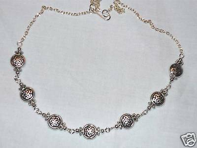Tibetan Silver Celtic Knot Bead Simple Necklace