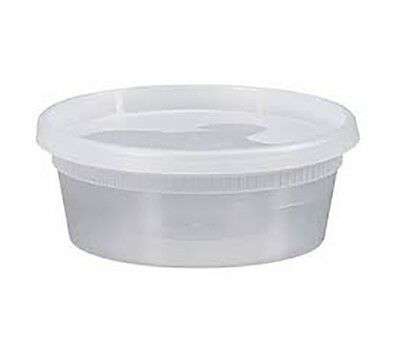 8 oz Plastic Deli Containers with Lids 10ct