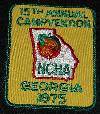 15th Annual Campvention NCHA Georgia 1975 Embroidered Patch