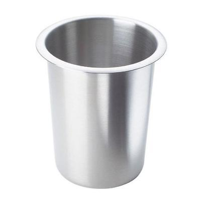 Cal-Mil - 1017-SOLID - 4 1/2 in Stainless Steel Flatware Cylinder