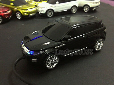 1x Black 3D USB Optical Wired Mouse Car Mice Land Rover Range Evoque for PC Gift