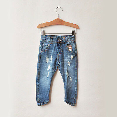 Kids Boys and Girls Unisex Torned Jeans