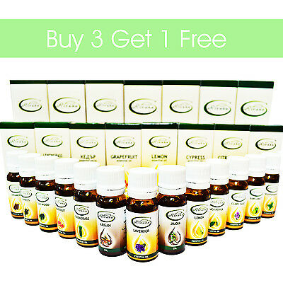 Buy 3 Get 1 Free 100% Natural Pure Essential Oils Therapeutic Grade Aromatherapy