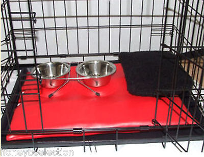Dog Pet Cage All Sizes Includes Mat FREE PILLOW Small Medium Large Crates Bowls