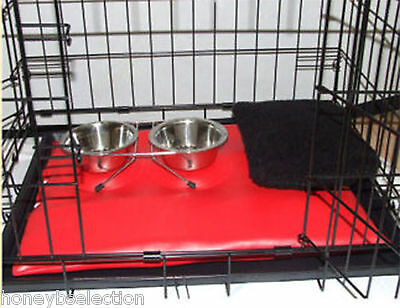 Dog Pet Cage Includes Mat Small Crates Bowls CAT SMALL PETS PUPPIES