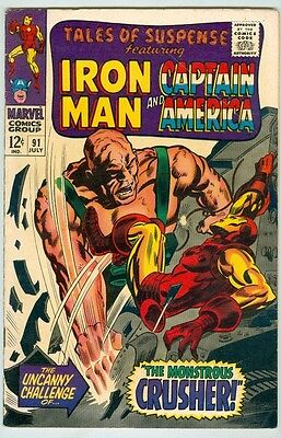 Tales of Suspense #91 July 1967 VG The Crusher