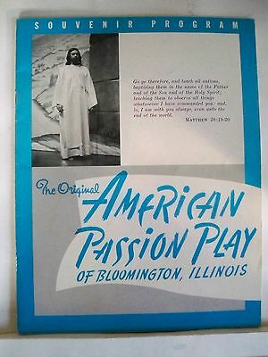 AMERICAN PASSION PLAY OF BLOOMINGTON, ILLINOIS Souvenir Program  1960s-70s