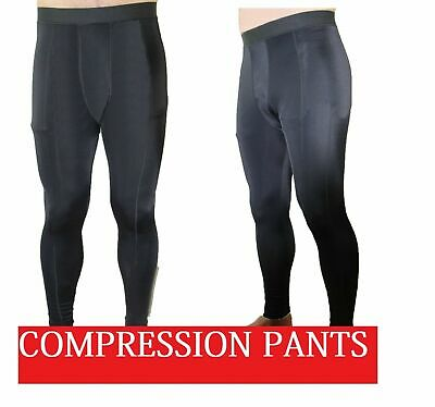 New Mens Black Compression Pants Men's Tights Gym Running Bike Cycling Skins