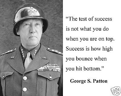 """George S. Patton WWII World War 2 """" success"""" Quote 8 x 10 Photo Picture #hs2"""