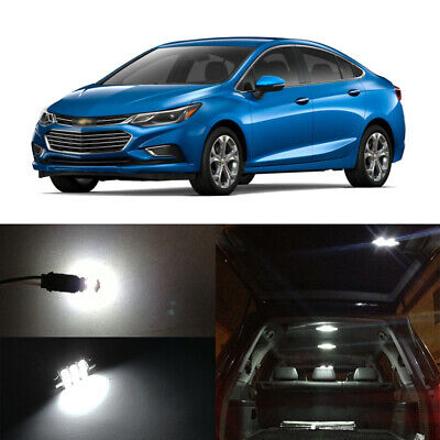 12 X White Led Interior Bulbs License Plate Lights For 2017 2016 Chevy Cruze