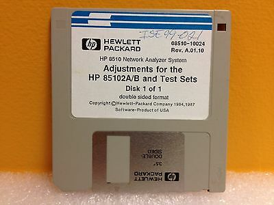 HP 08510-10024 Rev. A01.10 Adjustments Disk for HP 85102A/B