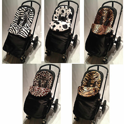 Animal Print Padded Footmuff Compatible With Babystyle Max/oyster/ts2